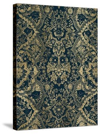 Baroque Tapestry in Aged Indigo II-Vision Studio-Stretched Canvas Print