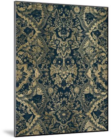 Baroque Tapestry in Aged Indigo II-Vision Studio-Mounted Art Print