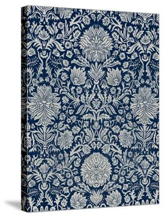 Baroque Tapestry in Navy II-Vision Studio-Stretched Canvas Print