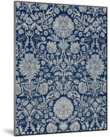 Baroque Tapestry in Navy II-Vision Studio-Mounted Art Print