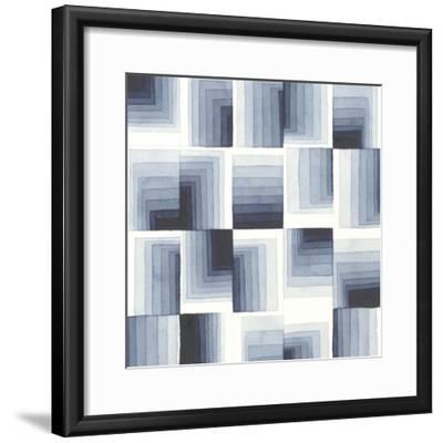 Gradient Indigo I-Nikki Galapon-Framed Art Print