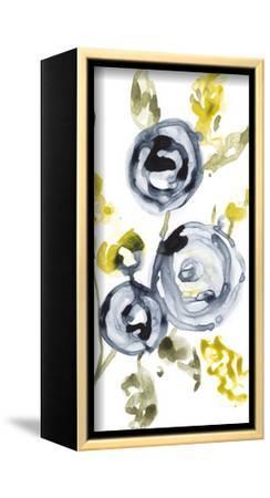 Navy Anemone II-Jennifer Goldberger-Framed Stretched Canvas Print
