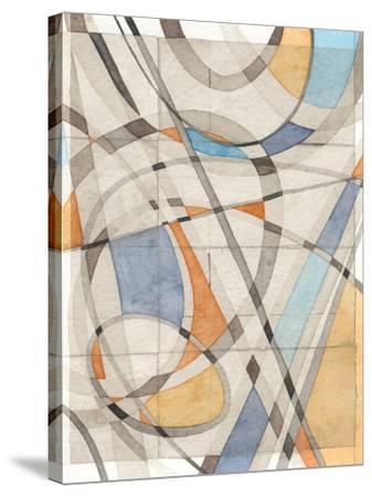 Ovals & Lines II-Nikki Galapon-Stretched Canvas Print