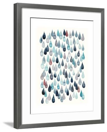 Watercolor Drops II-Grace Popp-Framed Art Print