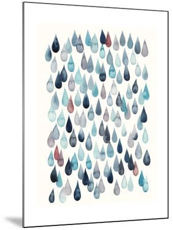 Watercolor Drops II-Grace Popp-Mounted Art Print