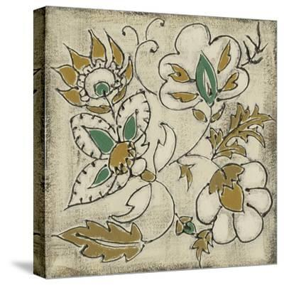 Earthenware Floral IV-Chariklia Zarris-Stretched Canvas Print