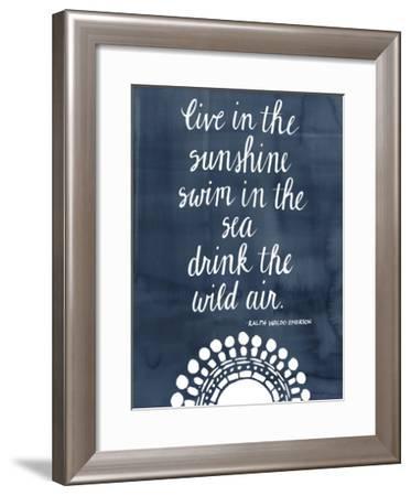 Sun Quote I-Grace Popp-Framed Art Print