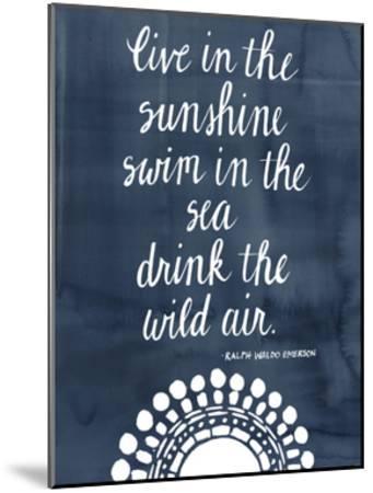 Sun Quote I-Grace Popp-Mounted Art Print