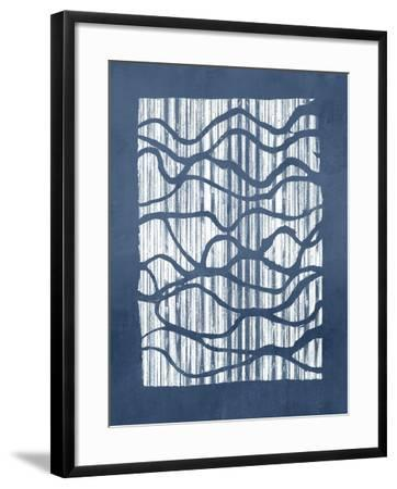 Inverse Indigo-Jennifer Goldberger-Framed Art Print