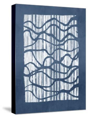 Inverse Indigo-Jennifer Goldberger-Stretched Canvas Print