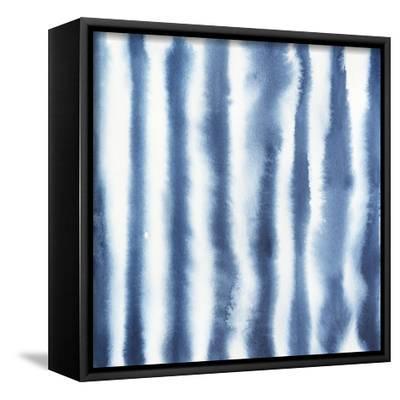 Indigo Bleed IV-Grace Popp-Framed Stretched Canvas Print