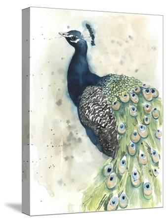 Watercolor Peacock Portrait II-Grace Popp-Stretched Canvas Print