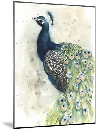 Watercolor Peacock Portrait II-Grace Popp-Mounted Premium Giclee Print