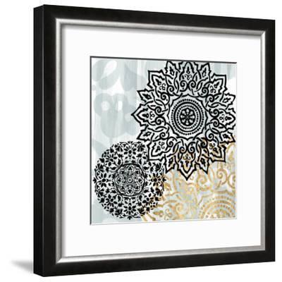 Rosettes on Aqua I-Studio W-Framed Art Print
