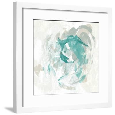Teal Fog I-June Erica Vess-Framed Art Print