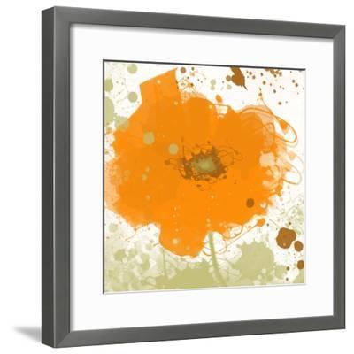 Modern Orange-Irena Orlov-Framed Art Print