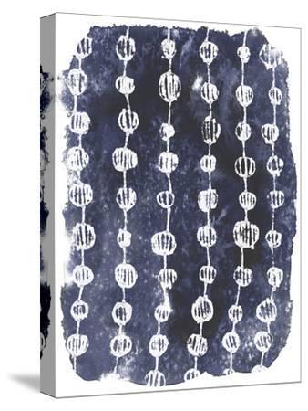 Indigo Batik Vignette I-June Erica Vess-Stretched Canvas Print
