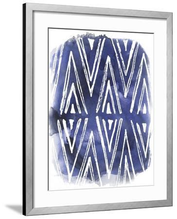 Indigo Batik Vignette II-June Erica Vess-Framed Art Print