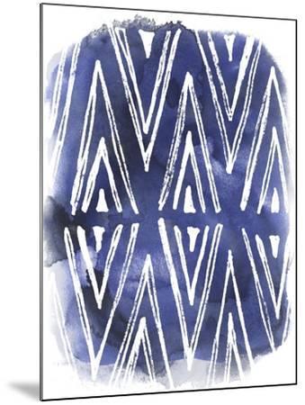 Indigo Batik Vignette II-June Erica Vess-Mounted Art Print