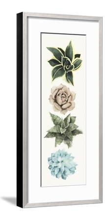 Row of Succulents I-Grace Popp-Framed Art Print