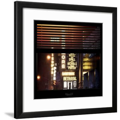 View from the Window - Broadway-Philippe Hugonnard-Framed Photographic Print