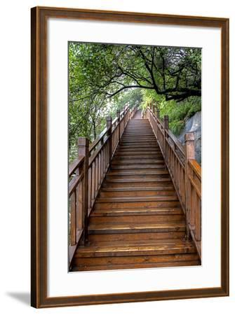 China 10MKm2 Collection - Mountain Woooden Staircase-Philippe Hugonnard-Framed Photographic Print