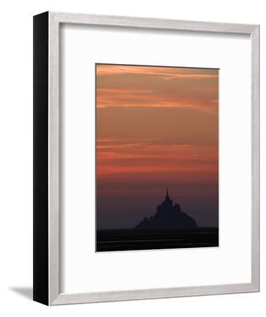 Mont Saint Michel at Night-Philippe Manguin-Framed Photographic Print