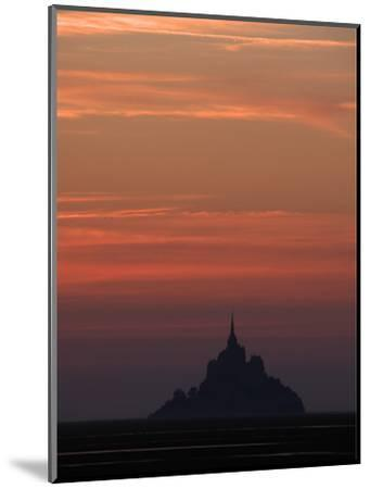 Mont Saint Michel at Night-Philippe Manguin-Mounted Photographic Print