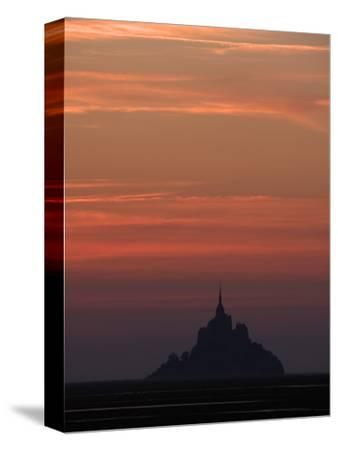 Mont Saint Michel at Night-Philippe Manguin-Stretched Canvas Print