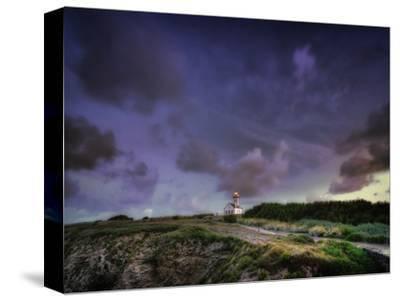 Les Poulains Lighthouse-Philippe Manguin-Stretched Canvas Print