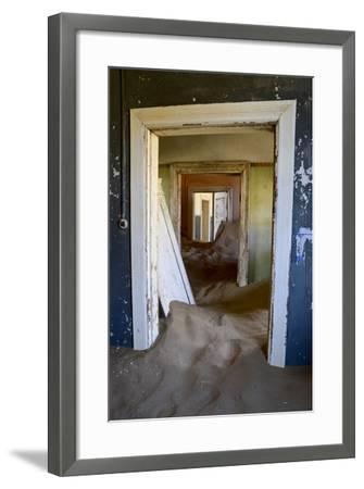 Abandoned House Full of Sand. Kolmanskop Ghost Town, Namib Desert Namibia, October 2013-Enrique Lopez-Tapia-Framed Photographic Print