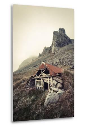 Abandoned Shelter Near Stokkness, Iceland, September 2015-Niall Benvie-Metal Print