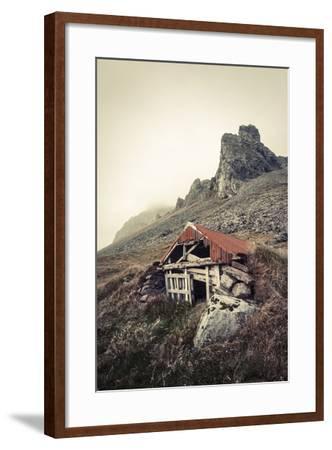Abandoned Shelter Near Stokkness, Iceland, September 2015-Niall Benvie-Framed Photographic Print