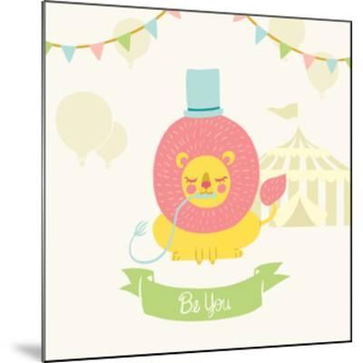 Little Circus Lion Pastel-Cleonique Hilsaca-Mounted Art Print