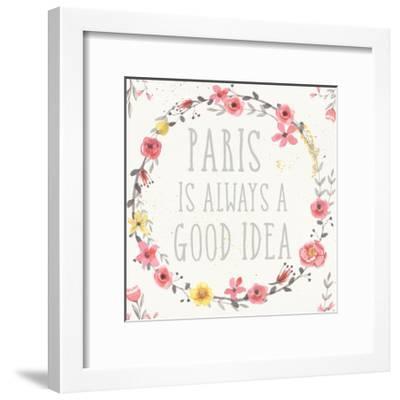 Paris Blooms IV-Jess Aiken-Framed Art Print