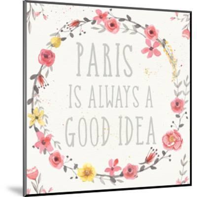 Paris Blooms IV-Jess Aiken-Mounted Art Print