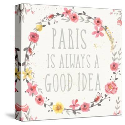 Paris Blooms IV-Jess Aiken-Stretched Canvas Print