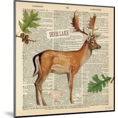 Lodge Collage III-Katie Pertiet-Mounted Art Print