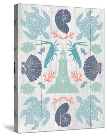 Coastal Otomi III on Wood-Cleonique Hilsaca-Stretched Canvas Print