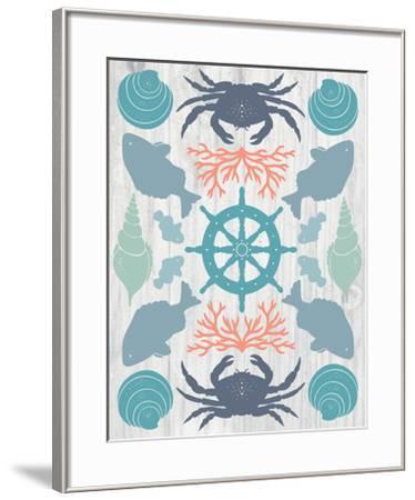 Coastal Otomi IV on Wood-Cleonique Hilsaca-Framed Art Print