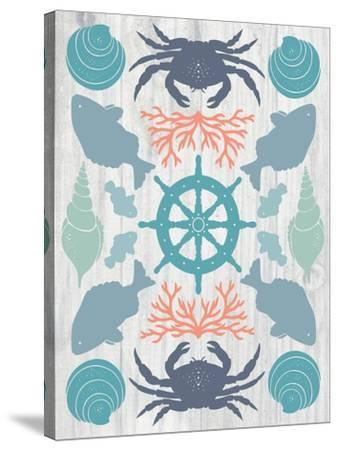Coastal Otomi IV on Wood-Cleonique Hilsaca-Stretched Canvas Print