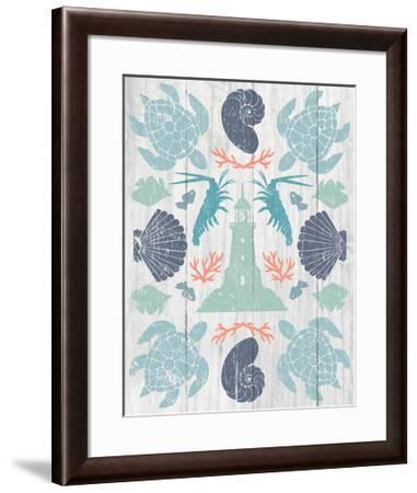 Coastal Otomi III on Wood-Cleonique Hilsaca-Framed Art Print