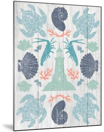 Coastal Otomi III on Wood-Cleonique Hilsaca-Mounted Art Print