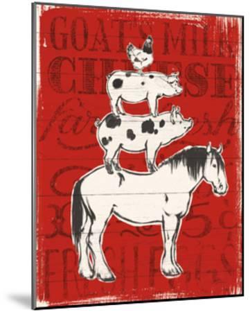 Farmers Market V-Janelle Penner-Mounted Art Print