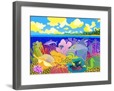 Luminescence Tropicale-Jan Barwick-Framed Giclee Print