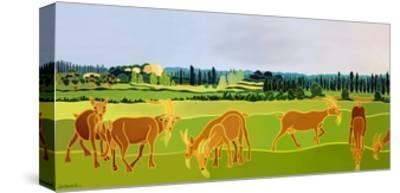 Les Chevres-Jan Barwick-Stretched Canvas Print