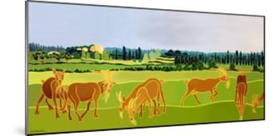 Les Chevres-Jan Barwick-Mounted Giclee Print