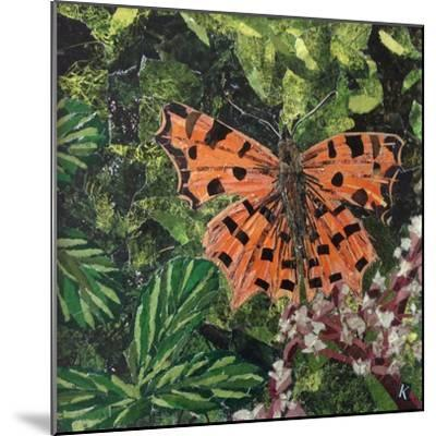 Flutter - Comma Butterfly on Japonica-Kirstie Adamson-Mounted Giclee Print