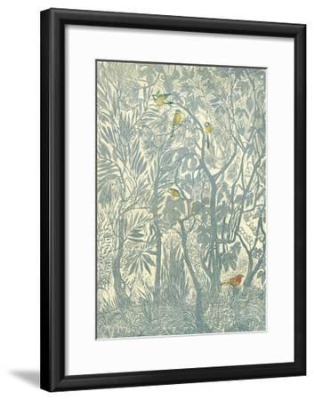 Bird Watching from the Kitchen Window: Robin-Mary Kuper-Framed Giclee Print