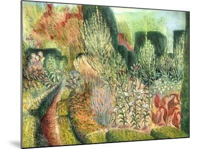 Great Dixter: Topiary and Paths-Mary Kuper-Mounted Giclee Print